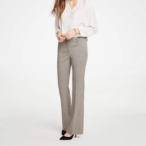 Ann Taylor The Madison Trouser In Check In Brown